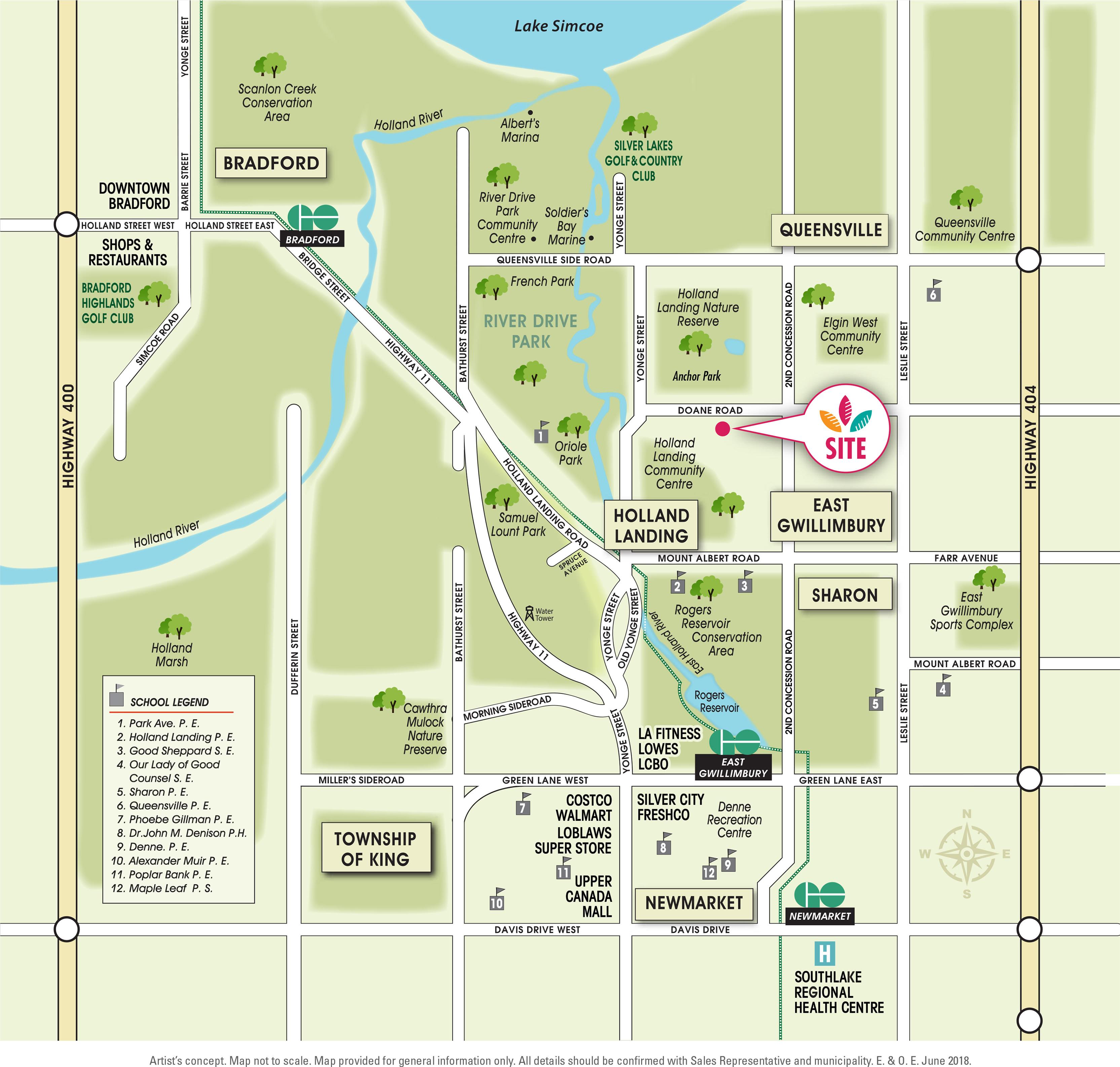 Anchor Woods Amenities Map