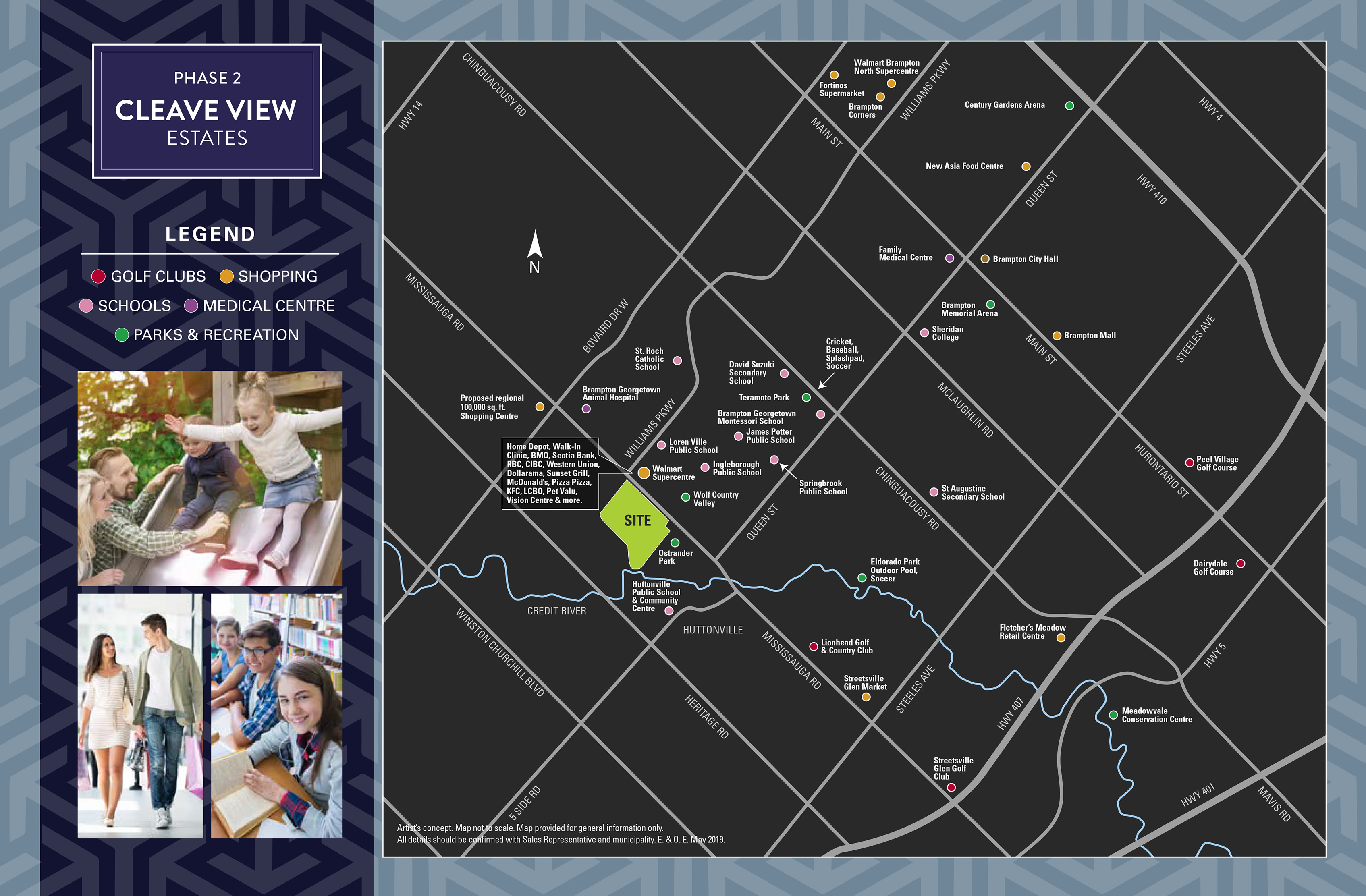 Cleave View Estates Amenities Map